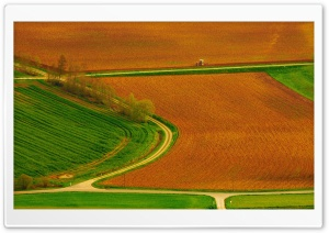 Field Roads HD Wide Wallpaper for Widescreen