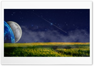 Field With Moons HD Wide Wallpaper for Widescreen