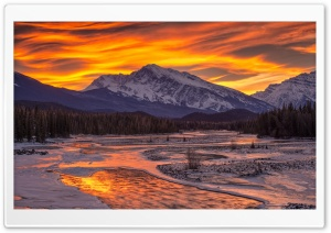 Fiery Montain Sky HD Wide Wallpaper for Widescreen