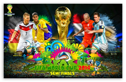 FIFA WORLD CUP 2014 SEMI-FINALS HD wallpaper for Wide 16:10 5:3 Widescreen WHXGA WQXGA WUXGA WXGA WGA ; HD 16:9 High Definition WQHD QWXGA 1080p 900p 720p QHD nHD ; Standard 3:2 Fullscreen DVGA HVGA HQVGA devices ( Apple PowerBook G4 iPhone 4 3G 3GS iPod Touch ) ; Mobile 5:3 3:2 16:9 - WGA DVGA HVGA HQVGA devices ( Apple PowerBook G4 iPhone 4 3G 3GS iPod Touch ) WQHD QWXGA 1080p 900p 720p QHD nHD ;
