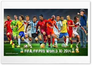 FIFA WORLD XI 2014 HD Wide Wallpaper for 4K UHD Widescreen desktop & smartphone