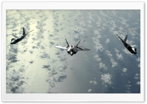 Fighter Jets Flying Above Clouds HD Wide Wallpaper for 4K UHD Widescreen desktop & smartphone