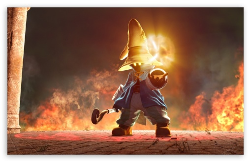 The black mage, Vivi, is young, but he's also kind of awesome.