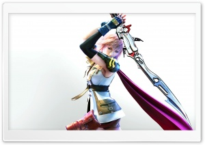 Final Fantasy XIII - Lightning HD Wide Wallpaper for Widescreen
