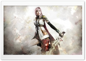 Final Fantasy XIII Lightning Artwork Ultra HD Wallpaper for 4K UHD Widescreen desktop, tablet & smartphone