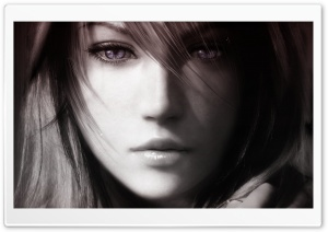 Final Fantasy XIII, Lightning Face HD Wide Wallpaper for Widescreen