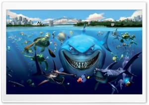 Finding Nemo Cast HD Wide Wallpaper for Widescreen