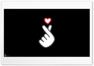 Finger Heart Ultra HD Wallpaper for 4K UHD Widescreen desktop, tablet & smartphone