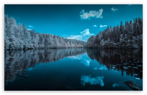 2048x2048 Lake Ultra Hd 4k Ipad Air Hd 4k Wallpapers: Finland Forest Lake 4K HD Desktop Wallpaper For 4K Ultra