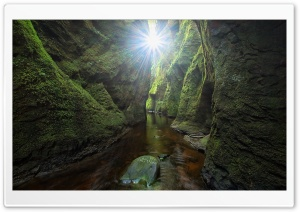 Finnich Gorge, Scotland HD Wide Wallpaper for 4K UHD Widescreen desktop & smartphone
