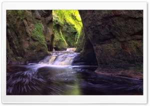 Finnich Gorge Waterfalls HD Wide Wallpaper for 4K UHD Widescreen desktop & smartphone