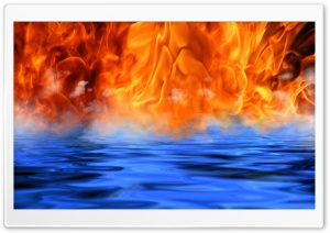 Fire - Water - Meet HD Wide Wallpaper for Widescreen