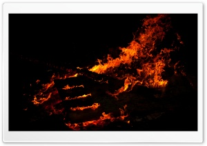 Fire at Night HD Wide Wallpaper for Widescreen