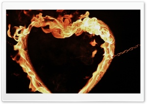 Fire Broken Heart HD Wide Wallpaper for Widescreen