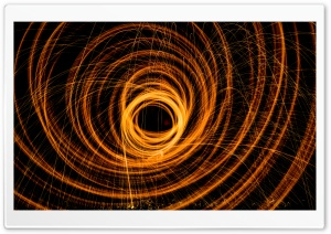 Fire Circles Long Exposure HD Wide Wallpaper for Widescreen