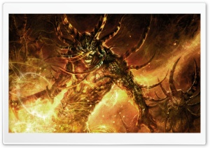 Fire Demon HD Wide Wallpaper for Widescreen