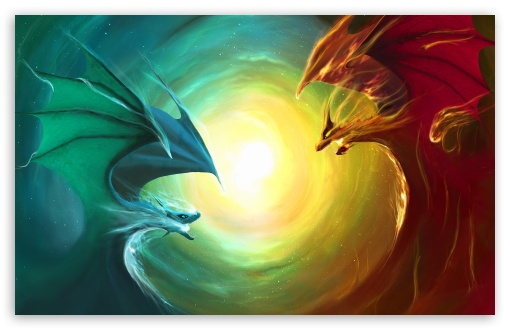 Fire Dragon Vs Water Dragon HD wallpaper for Wide 16:10 5:3 Widescreen WHXGA WQXGA WUXGA WXGA WGA ; HD 16:9 High Definition WQHD QWXGA 1080p 900p 720p QHD nHD ; Standard 3:2 Fullscreen DVGA HVGA HQVGA devices ( Apple PowerBook G4 iPhone 4 3G 3GS iPod Touch ) ; Mobile 5:3 3:2 16:9 - WGA DVGA HVGA HQVGA devices ( Apple PowerBook G4 iPhone 4 3G 3GS iPod Touch ) WQHD QWXGA 1080p 900p 720p QHD nHD ;