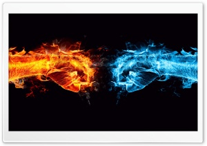 Fire Fist vs Water Fist HD Wide Wallpaper for 4K UHD Widescreen desktop & smartphone