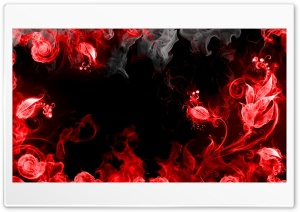 Fire Flowers HD Wide Wallpaper for Widescreen