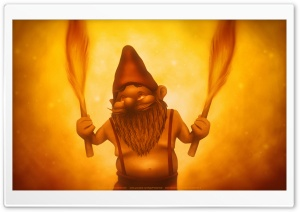 Fire Gnome HD Wide Wallpaper for Widescreen