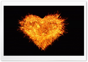 Fire Heart HD Wide Wallpaper for Widescreen