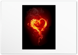 Fire Heart Red HD Wide Wallpaper for Widescreen