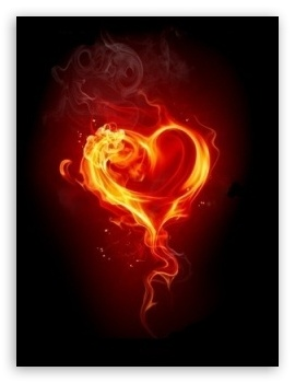 Fire Heart Red HD wallpaper for Mobile VGA - VGA QVGA Smartphone ( PocketPC GPS iPod Zune BlackBerry HTC Samsung LG Nokia Eten Asus ) ;