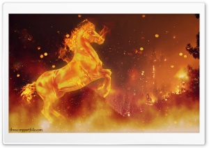 Fire Horse HD Wide Wallpaper for 4K UHD Widescreen desktop & smartphone
