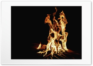 Fire in the Dark HD Wide Wallpaper for Widescreen