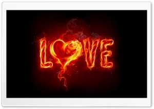 Fire Love HD Wide Wallpaper for 4K UHD Widescreen desktop & smartphone