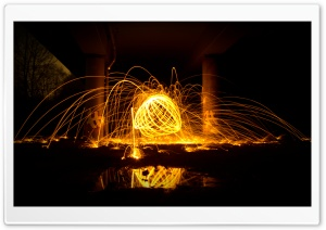 Fire Reflection HD Wide Wallpaper for Widescreen