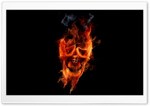 Fire Skull HD Wide Wallpaper for Widescreen