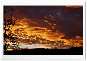 Fire Sky. HD Wide Wallpaper for Widescreen
