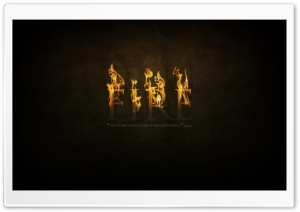 Fire Typography HD Wide Wallpaper for Widescreen