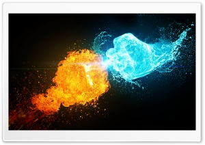 Fire vs Ice Ultra HD Wallpaper for 4K UHD Widescreen desktop, tablet & smartphone