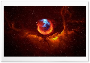 Firefox Nebula HD Wide Wallpaper for Widescreen