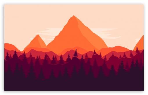 Firewatch Inspired Ultra Hd Desktop Background Wallpaper For
