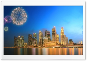 Fireworks HDR HD Wide Wallpaper for Widescreen