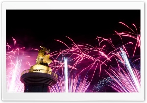 Fireworks In Kaohsiung HD Wide Wallpaper for 4K UHD Widescreen desktop & smartphone