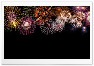 Fireworks In The Sky HD Wide Wallpaper for 4K UHD Widescreen desktop & smartphone