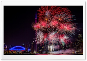 Fireworks Night Ultra HD Wallpaper for 4K UHD Widescreen desktop, tablet & smartphone