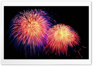 Fireworks Night Sky HD Wide Wallpaper for Widescreen