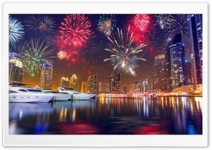 Fireworks On New Years Eve HD Wide Wallpaper for 4K UHD Widescreen desktop & smartphone