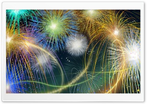 Fireworks Shows, Fourth Of July HD Wide Wallpaper for 4K UHD Widescreen desktop & smartphone