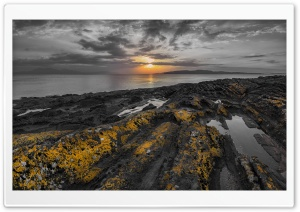 Firth of Clyde, Black and Yellow HD Wide Wallpaper for Widescreen