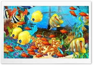 Fish Aquarium HD Wide Wallpaper for 4K UHD Widescreen desktop & smartphone
