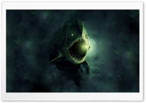 Fish Monster HD Wide Wallpaper for Widescreen