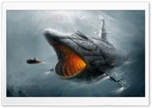 Fish Submarine HD Wide Wallpaper for Widescreen