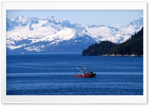 Fishing Boat, Alaska HD Wide Wallpaper for Widescreen