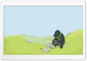 Fishing Vector Art HD Wide Wallpaper for Widescreen
